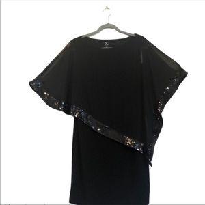 X by xscape clack asymmetrical sequin dress